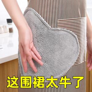 时尚围裙女日系可爱厨房做饭工作服罩衣大人围腰防油防水家用男士