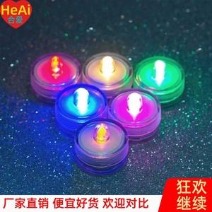 小燈泡電池款 單個 手工兒童小彩燈彩色紐扣燈led電子燈泡裝飾
