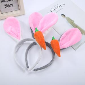 兔耳朵发箍 疯狂动物城朱迪兔子发夹 王俊凯同款游乐场卡通头饰