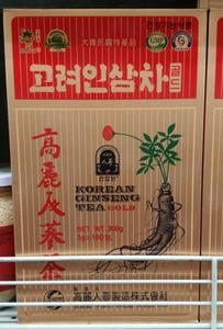 【代购】原装进口 韩国天参元  高丽人参茶300g (3g*100)100包装