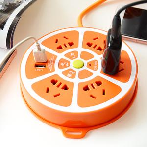 多功能USB插座家用多用插排插板带线多孔拖插线板接线板延长线米
