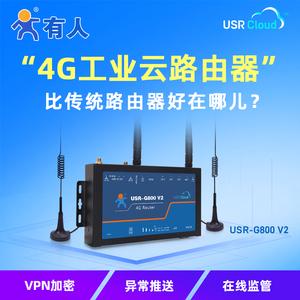 包郵有人物聯網3g/4g工業級無線云路由器移動聯通電信全網通wifi/DTU高速穩定物聯網USR-G800 V2