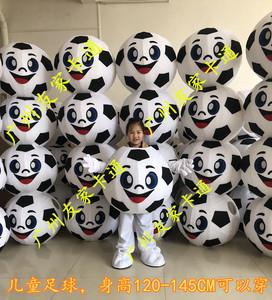 足球卡通人偶服装运动会儿童款足球服cos服道具篮球学校体育用品