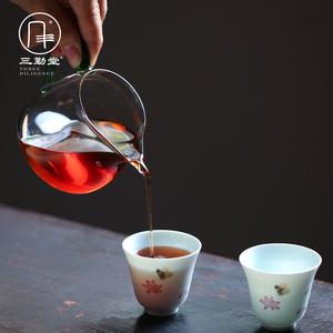 三勤堂玻璃公道杯高硼硅鹰嘴手工吹制显汤色防烫大容量茶海S35007