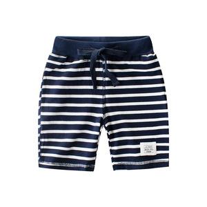 儿童条纹短裤夏装宝宝五分裤男童纯棉间条针织卫裤童装沙滩裤夏季
