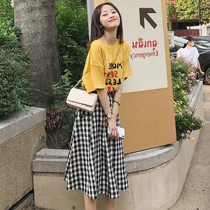 2019春装新款女装两件套装连衣裙甜美娇小矮个子春季时髦韩版时尚