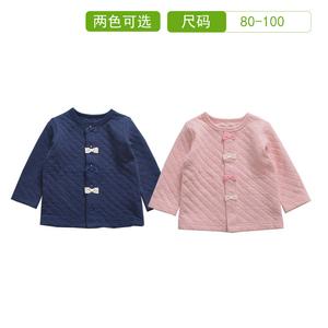 兒童外套秋女童日系純棉空氣層甜美寶寶開衫春洋氣小孩蝴蝶結上衣