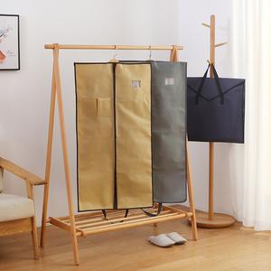 衣服收纳袋子挂西服袋立体防尘袋无纺布落地衣架防尘罩西装罩防尘