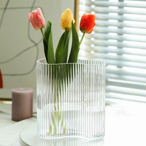 网红玻璃花瓶插花干花鲜花水养水培ins北欧创意简约客厅桌面摆件