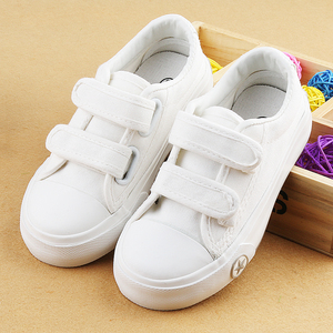 儿童帆布鞋男童白色板鞋女童低帮小白鞋幼儿园布鞋小学生运动球鞋