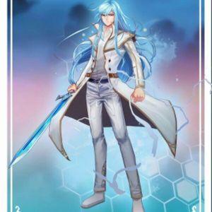 白衣蓝剑,天冰雪寒舞长空,龙王传说,斗罗大陆