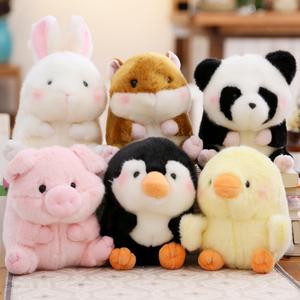 仿真小动物熊猫小猪小鸡公仔姚琛同款仓鼠毛绒玩具企鹅布娃娃玩偶