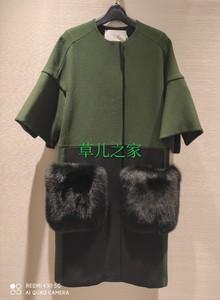 代购VGRASS维格娜丝劲草专柜正品2018冬款羊毛大衣外套VSDYJ41900