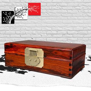 名貴珠寶首飾盒小葉紫檀滿金星婚嫁禮品紅木中式復古居家收納擺件