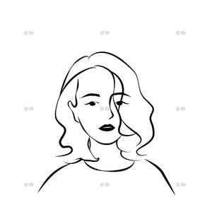 【简笔画头像】ins极简风头像人物线条设计简约手绘插画定制独家