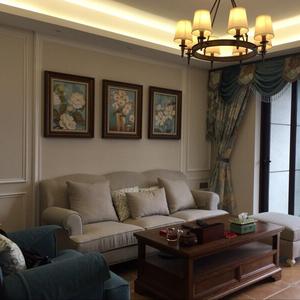 美式鄉村裝飾畫客廳沙發背景墻畫三聯畫臥室壁畫田園餐廳掛畫玄關