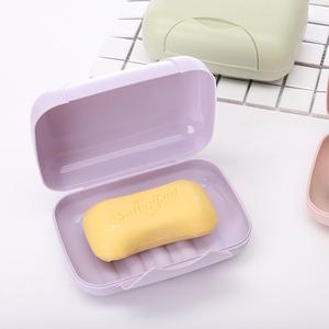 帶扣蓋皂盒 旅行便攜帶鎖扣有蓋肥皂盒密封防水皂架 封閉性香皂盒