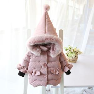 女宝宝冬季加厚羽绒棉棉衣2至3到4-5岁小女孩洋气冬装棉服6女童装