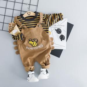 男童宝宝春装背带裤套装婴儿童装1一3岁洋气洋气韩版0潮衣服2周岁