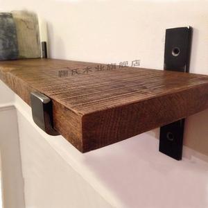 掛壁式擱板上直角支撐柜子墻上置物架三腳架掛客廳廚房裝飾架
