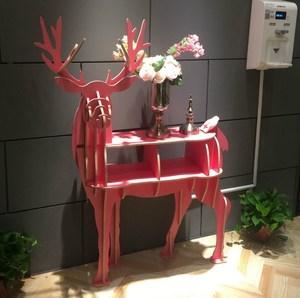 麋鹿置物架簡約公鹿組裝動物造型收納帶抽屜柜子北歐風格拼裝擺件