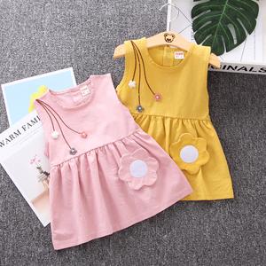 全棉女寶寶裙子女童裝夏裝女孩衣服連衣裙1周歲半2到3歲多小孩子4
