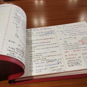 A4 B5橫式軟皮面活頁筆記本 可拆卸記事本大號加厚手賬本 5mm方格本網格本康奈爾5r高效讀書筆記思維導圖本子