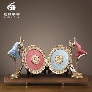 歐式舞女人物樹脂工藝品 梳妝臺創意家居裝飾品擺件