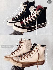 可定制 2020日系匡威英國官網代購定制情侶鞋1970s高幫低幫帆布鞋