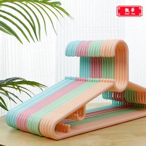 简易加粗塑料衣架室内卧室北欧风凉衣架家用房间可爱防滑大小号20