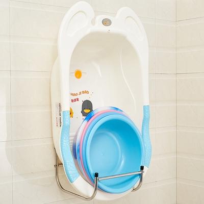 免物架大号打孔壁挂e不锈钢脸盆架子盆架置放卫生间浴室宝宝收纳.
