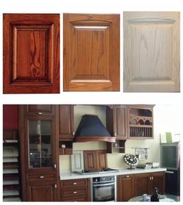 青岛出口工厂直供 美国红橡全实木橱柜门板定做欧式P衣柜书柜壁柜
