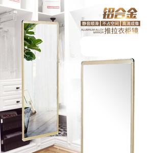 衣柜鏡子內裝櫥柜推拉伸縮柜門內置歐式衣柜臥室推拉門帶鏡子全身