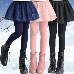 女童打底裙裤加厚加绒