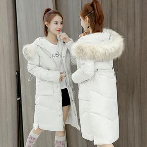 女装反季2018冬季新款棉衣韩版时尚大码宽松中长款羽绒棉服女外套