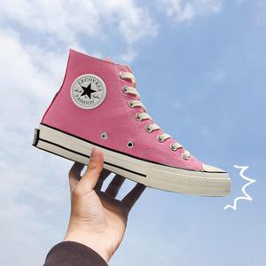 得分王旗艦店官網正品爾匡威萊斯粉紅色鞋男1970s帆布鞋高幫女鞋