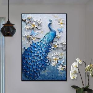 禮物客廳鉆石畫裝飾背景墻孩子大鉆兔子結婚走廊字體水晶十字繡