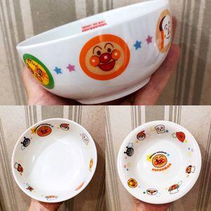 現貨 包郵 日本面包超人兒童寶寶大號陶瓷碗輔食碗湯碗面碗日本制