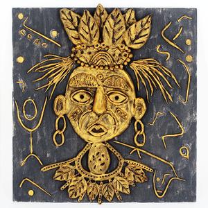 儿童创意diy仿铜浮雕粘土主题画幼儿园装饰画美术画手工制作材料