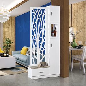 小户型客厅柜子 入户玄关隔断 屏风装饰柜 储物酒柜 多功能烤漆