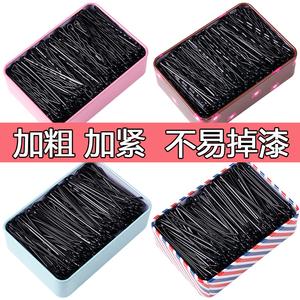 黑色一字夾發夾韓國成人波浪夾小黑卡子頭飾鋼夾少女邊夾發卡發飾