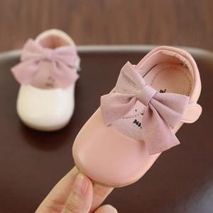 女婴儿幼儿学步鞋女宝宝公主鞋子女童小皮鞋0-1-3周岁2软底春秋季