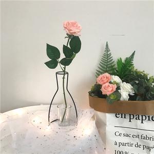 韩国ins性冷淡风北欧风工业风创意铁艺花瓶造型花瓶插花干花花艺图片