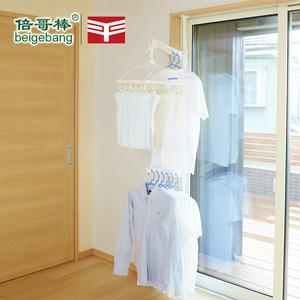 窗户阳台伸缩晾衣杆折叠晾衣架