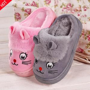 男童棉拖鞋兒童冬季大童可愛卡通冬天小孩女童防滑寶寶毛毛保暖鞋