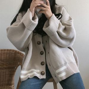 韩国ulzzang森女毛衣女2019冬季厚外套披肩配牛仔紧身裤短裙上衣