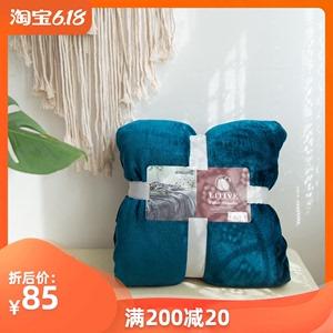 紫貂絨毛毯被子床單加厚鋪床冬季400克重單人宿舍學生辦公室午睡