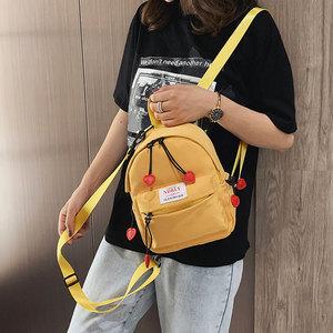 韓版小包包女2019新款夏季洋氣帆布雙肩包時尚少女旅行包學生背包