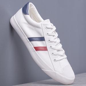 帆布鞋男透气小白鞋韩版男士白色布鞋百搭板鞋英伦潮男街拍男鞋