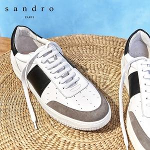 sandro男鞋經典款男式拼接材質時髦魅力舒適百搭休閑鞋SHACH00255